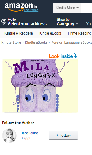 Mila Longneck, e-book, selfpublished 2018, Amazon